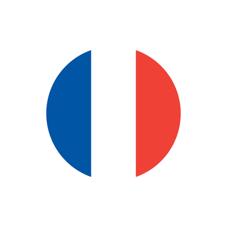 France flag, official colors and proportion correctly. National French flag. Flat vector illustration.