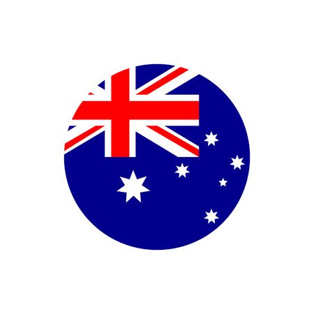 Australia flag, official colors and proportion correctly. National Australian flag. Raster illustration
