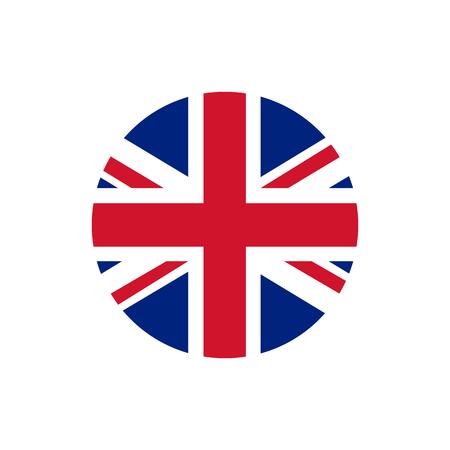 Bandera de Reino Unido de Gran Bretaña, colores oficiales y proporción correcta. Bandera nacional del Reino Unido de Gran Bretaña. Ilustración de trama