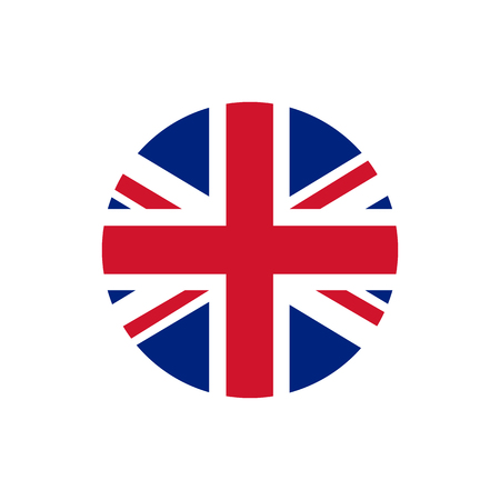 UK of Great Britain flag, official colors and proportion correctly. National UK of Great Britain flag. Raster illustration Stock Photo
