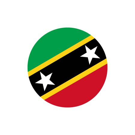 Saint Kitts and Nevis flag, official colors and proportion correctly. National Saint Kitts and Nevis flag. Raster illustration Stock Photo