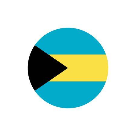 バハマの旗、正式な色やプロポーションが正しく。ナショナル・バハマ・フラッグ。ラスターイラストレーション