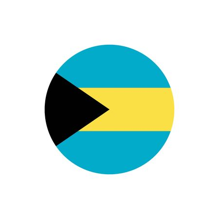 Bahamas flag, official colors and proportion correctly. National Bahamian flag. Raster illustration