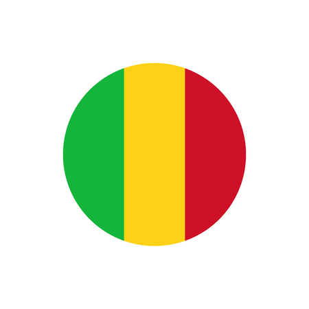 Mali flag, official colors and proportion correctly. National Mali flag. Raster illustration