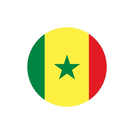 Senegal flag, official colors and proportion correctly. National Senegalese flag. Raster illustration Stock Photo