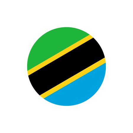 Tanzania flag, official colors and proportion correctly. National Tanzania flag. Raster illustration Stock Photo