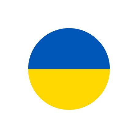 Ukrainian flag, official colors and proportion correctly. National Ukraine flag. Raster illustration
