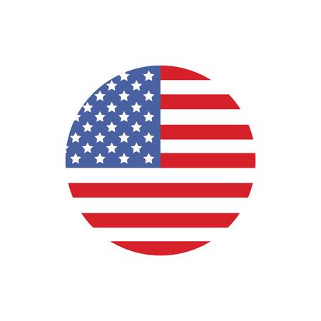 アメリカ国旗ラスター図