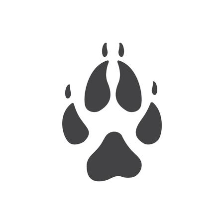Vector illustration of Fox Paw Print