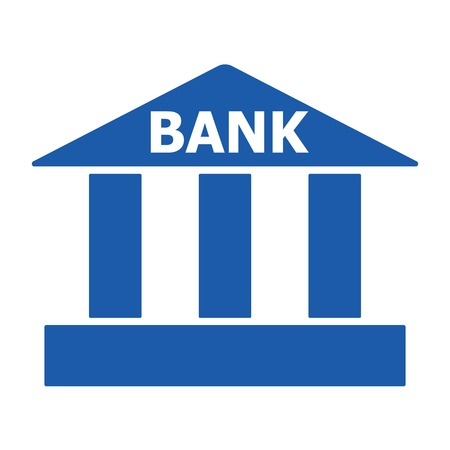 Vector illustration. Bank icon. Payments Area sign on white background. European Bank