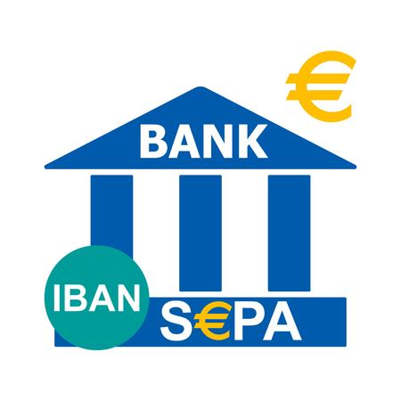 Bank icon illustration. Illustration