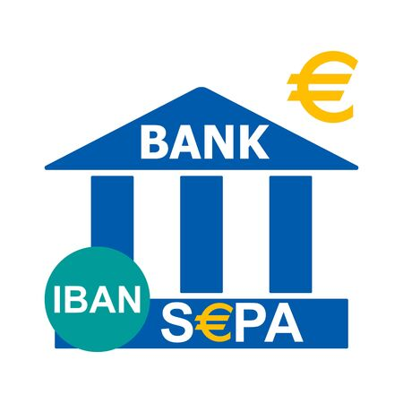 Bank icon. Bank logo.