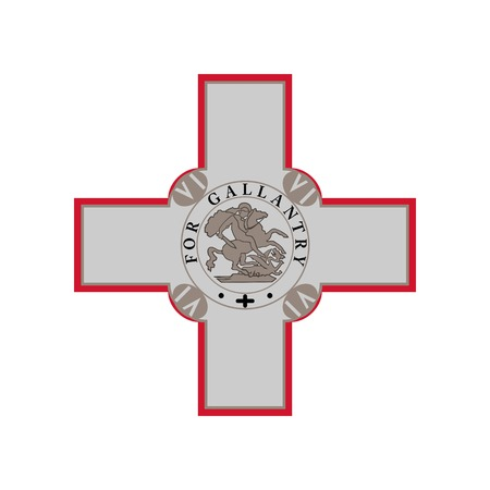 Malta Coat of Arm. Official colors and proportion correctly. National Malta Coat Of Arm. Raster illustration Stock Photo