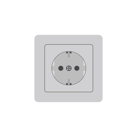 Vector illustration. Power socket. Colour icon. Electricity in life
