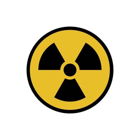 Vector illustration. Radioactive hazard. Round sign of radioactivity. Safe sign. Vector Illustration