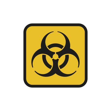 Vector illustration. Bio hazard. Square sign of Biohazard. Safe sign.