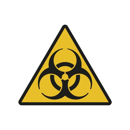 Vector illustration. Bio hazard. Triangle sign of Biohazard. Safe sign. Stock Vector - 101256645