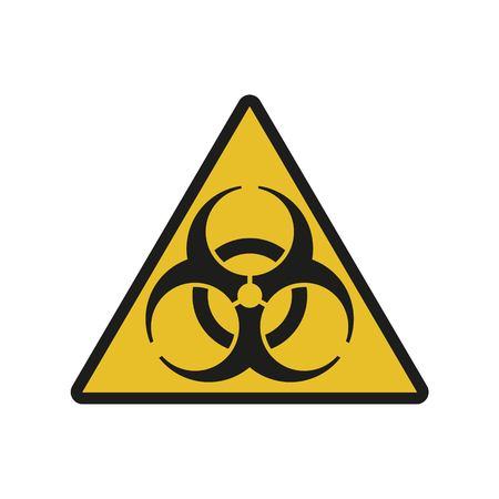 Raster illustration. Bio hazard. Triangle sign of Biohazard. Safe sign. Stock Photo