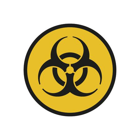 Raster illustration. Bio hazard. Round sign of Biohazard. Safe sign. Archivio Fotografico