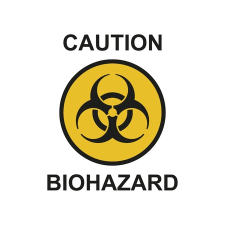 Vector illustration? Biohazard symbol sign of biological threat alert. Biohazard sign isolated on white