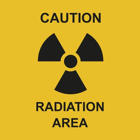 Vector illustration. Radiation area symbol sign of biological threat alert. Radioactive sign isolated on white