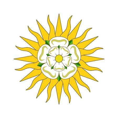 Vector West Riding of Yorkshire, officiële kleuren en verhoudingen correct. Wapen van York Vector illustratie