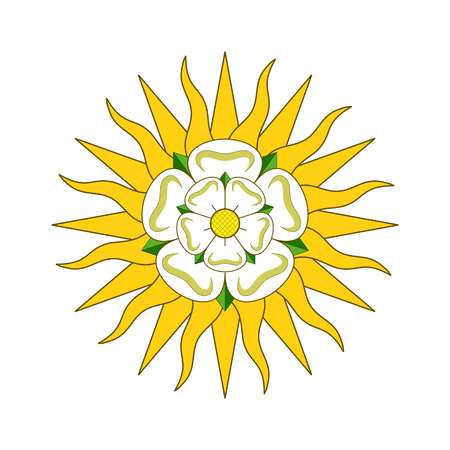 Vector West Riding of Yorkshire, official colors and proportion correctly. Coat of arms of York Vector illustration Illustration