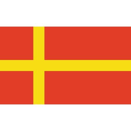 Skane flag, official colors and proportion correctly. National Skanian flag. Raster illustration Stock Photo