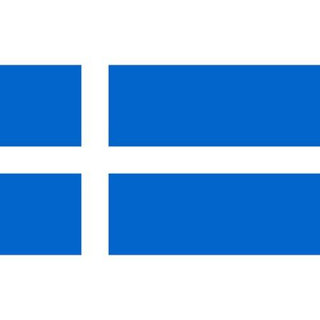 Shetland flag, official colors and proportion correctly. National Shetland flag. Raster illustration Stock Photo