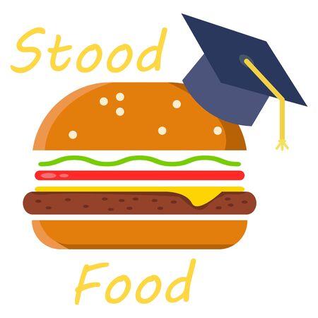 Stood Food. Abstract concept, icon. Archivio Fotografico - 128693017