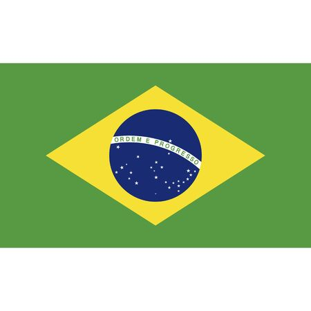 Federative Republic of Brazil. National flag, correct proportions. Abstract concept, icon.