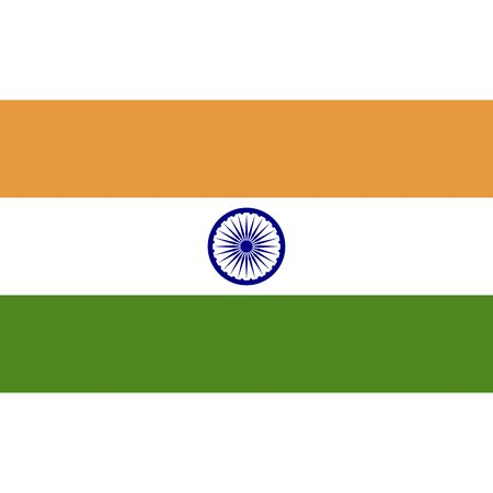 Republic of India. National flag, correct proportions. Abstract concept, icon.  イラスト・ベクター素材
