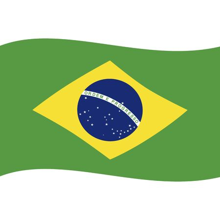 Federative Republic of Brazil. National flag, wave. Abstract concept, icon.