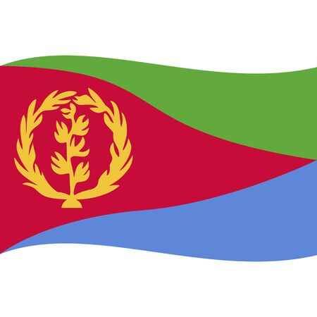 State of Eritrea. National flag, wave. Abstract concept, icon.