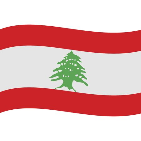 Lebanese Republic. National flag, wave. Abstract concept, icon. Ilustrace