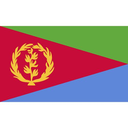 State of Eritrea. National flag, correct proportions. Abstract concept, icon.