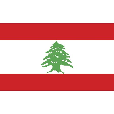 Lebanese Republic. National flag, correct proportions. Abstract concept, icon. Ilustrace