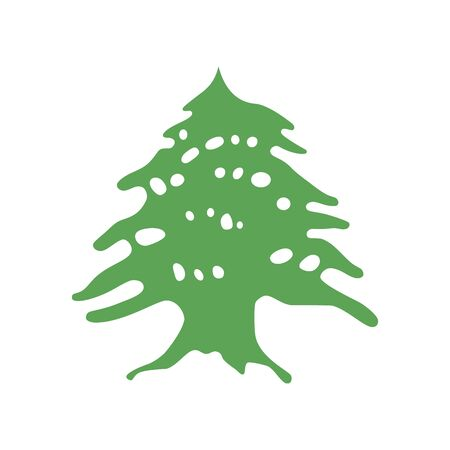 Element of the flag of Lebanon. Lebanon Cedar. Abstract concept, icon.