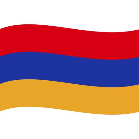 Republic of Armenia. National flag, wave. Abstract concept, icon. Ilustrace
