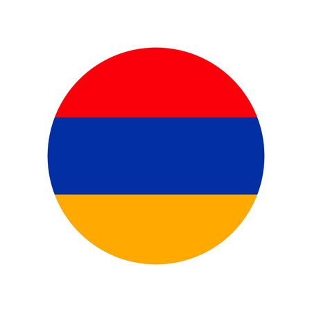 Republic of Armenia. National flag, round. Abstract concept, icon.