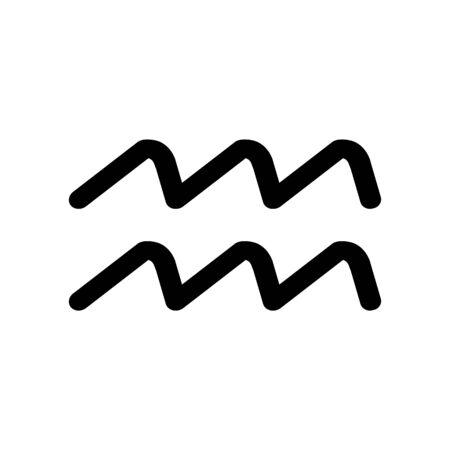 Astrological sign symbol, icon. Aquarius.