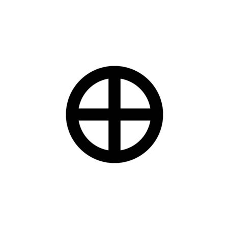 Astrological symbol of Earth, icon. Black sign isolated.  イラスト・ベクター素材