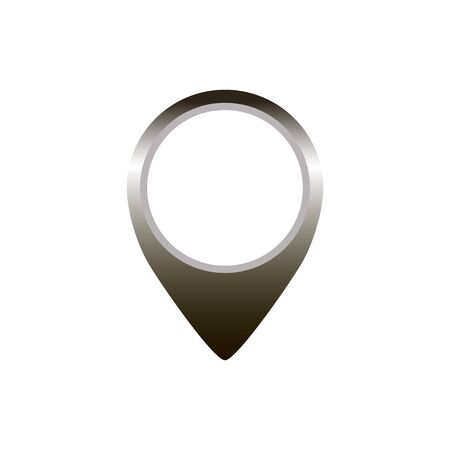 Map pointer. Marker of location and navigation. Black. Abstract concept, icon.