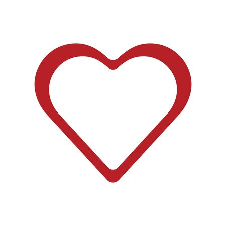 Red heart, icon. Abstract concept. Vector illustration on white background. Ilustracja