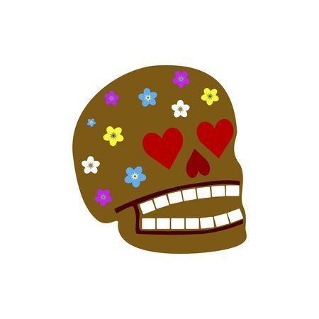 Mexican sugar scull. Abstract concept, icon. Vector illustration on white background.