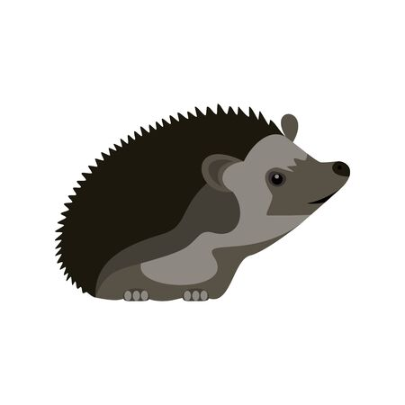 A little curious hedgehog. Abstract concept, icon. Vector illustration on white background.