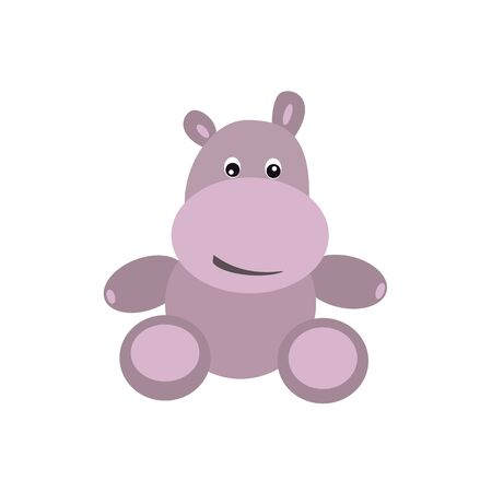 Cute hippo. Abstract concept, icon. Vector illustration on white background.