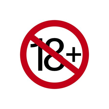Age restriction symbol. Eighteen plus. Abstract concept, icon. Vector illustration on white background.