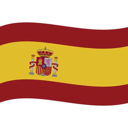 Kingdom of Spain. National flag, wave. Abstract concept, icon. Vector illustration. Stock Illustratie