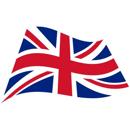 Great Britain. National flag, wave. Abstract concept, icon. Vector illustration.